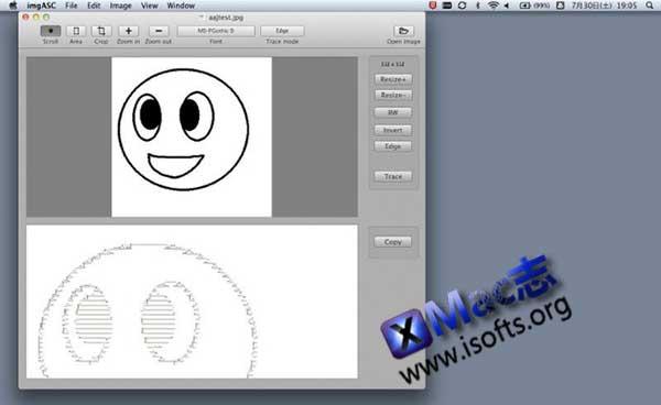 [Mac] Ascii字符画快速生成制作工具 : imgASC