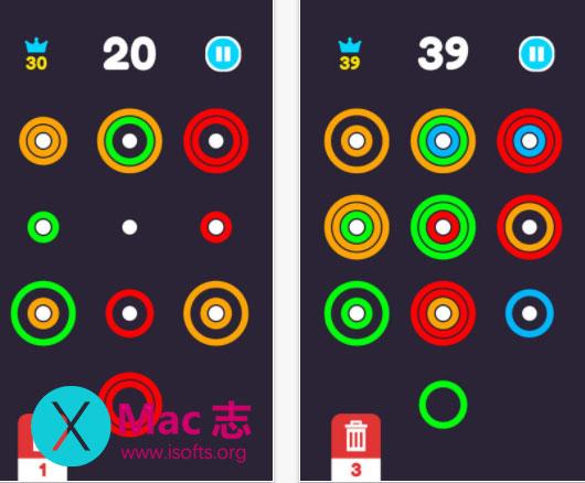 [iPhone/iPad]极简的消除类游戏 :圈圈消Ring Match3 Pro
