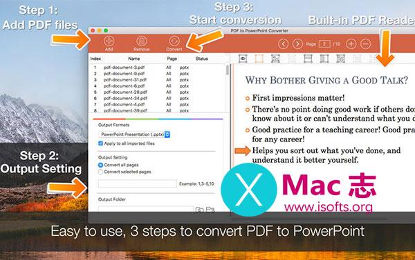 [Mac] PDF格式转PPT格式转换工具 :PDF to PowerPoint Converter