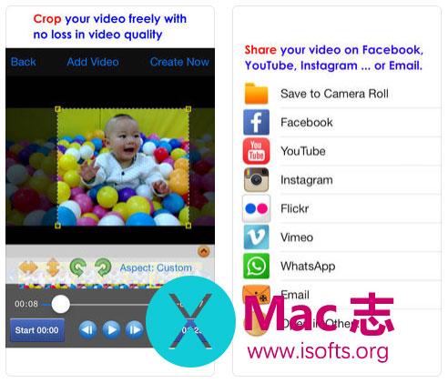 [iPhone/iPad]视频画面裁剪工具 :Crop Video