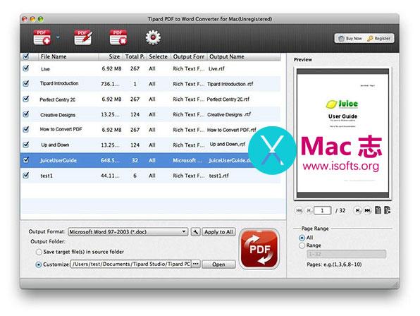 [Mac]专业的PDF文档格式转换软件 : Tipard Studio PDF Converter Platinum