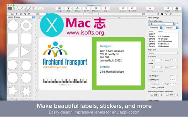 [Mac]标签设计工具 :Label Maker