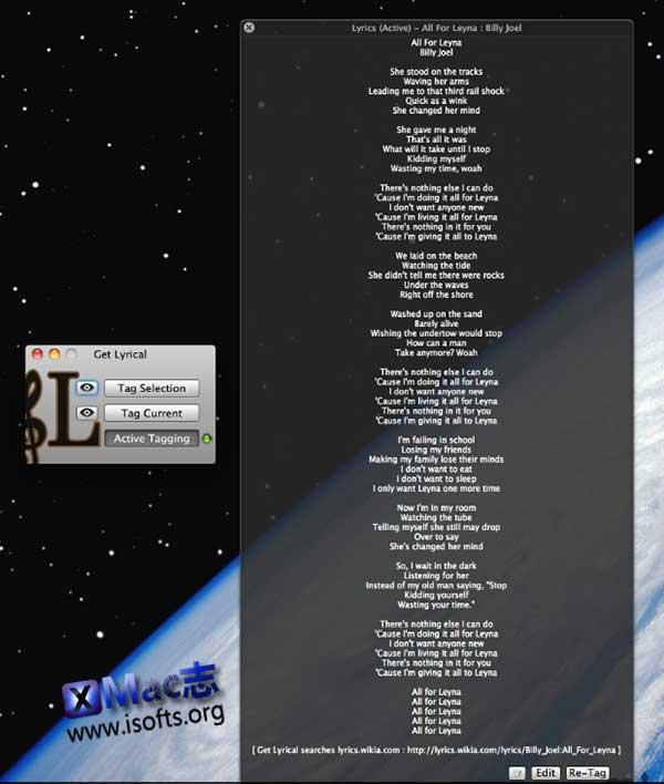 [Mac] iTunes歌词自动匹配下载工具 : Get Lyrical