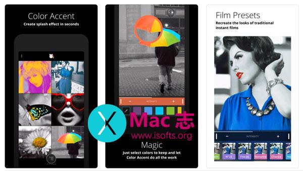 [iPhone/iPad]照片里的某种颜色保留其他的颜色变黑白的处理工具 :Color Accent