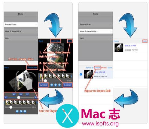 [iPhone/iPad]视频画面旋转工具 :Rotate Video 360°