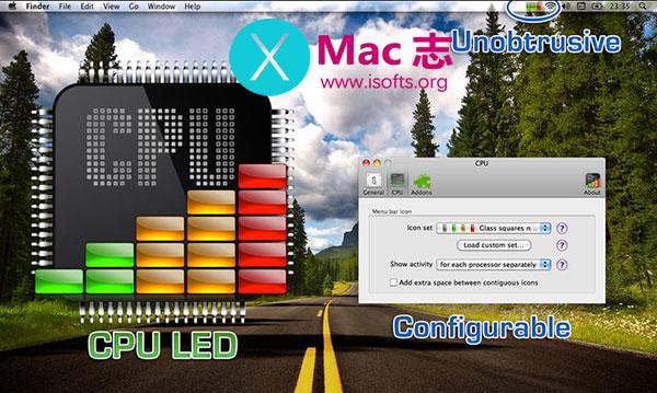 [Mac]监视CPU负载的菜单栏工具 : CPU LED