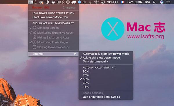 [Mac]提升续航的电源管理工具 :Endurance