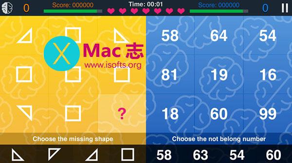 [iPhone/iPad]考验一心二用能力的游戏 : 2 Things at Once