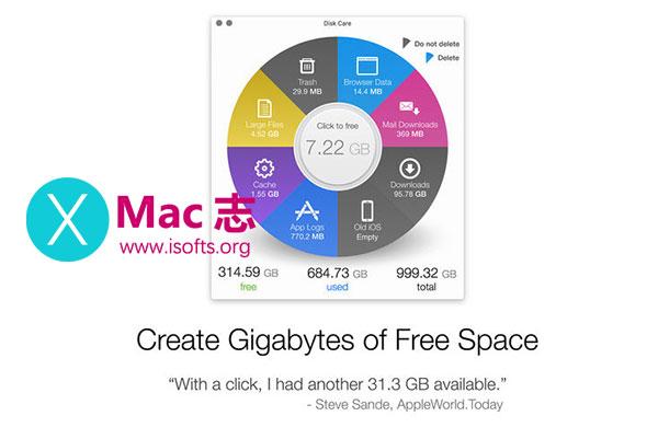 [Mac]磁盘垃圾清理工具 : Disk Care