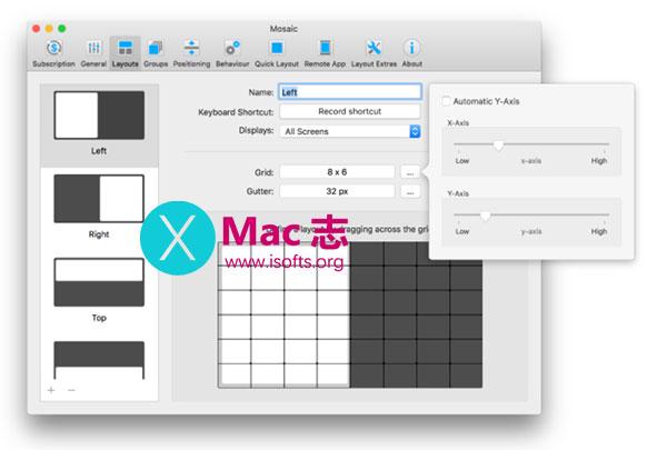[Mac]多窗口排列管理工具 : Mosaic Pro