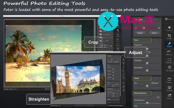 [Mac]照片编辑软件 : Fotor Photo Editor Pro