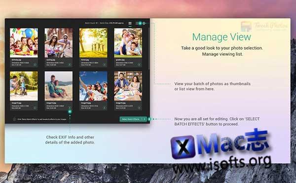[Mac]图片批量编辑处理工具 : Tweak Photos