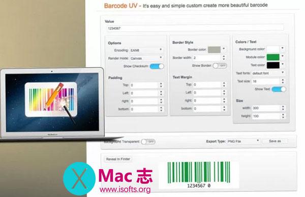 [Mac] UV条形码设计工具 : BarcodeUV