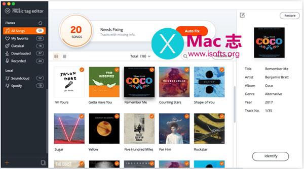 [Mac]修复音乐文件的ID3标签和专辑封面 : KeepVid Music Tag Editor