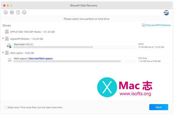 [Mac] APFS格式分区数据恢复软件 :iBoysoft APFS Data Recovery