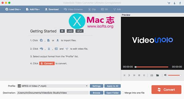 [Mac]在线视频下载及视频格式转换工具 : VideoSolo Video Converter Ultimate