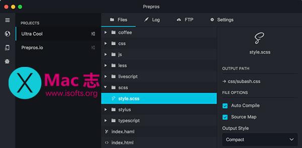 [Mac]前端开发工具 : Prepros