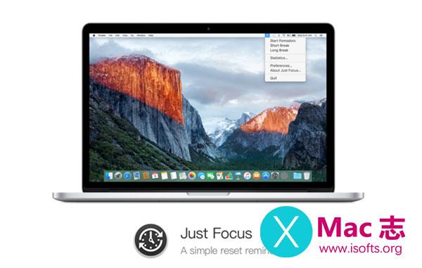 [Mac]简洁易用的休息提醒工具 : Just Focus