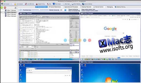 [Mac]雇员电脑桌面远程监控工具 : Net Monitor for Employees