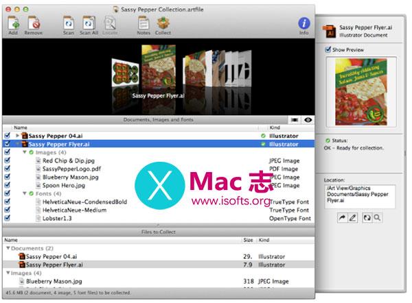 [Mac]好用的AI资源打包工具 : Art Files