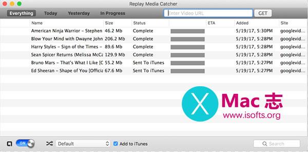 [Mac]在线视频下载工具 : Applian Replay Media Catcher