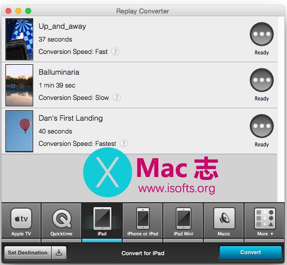 [Mac]视频音频格式转换工具 : Applian Replay Converter