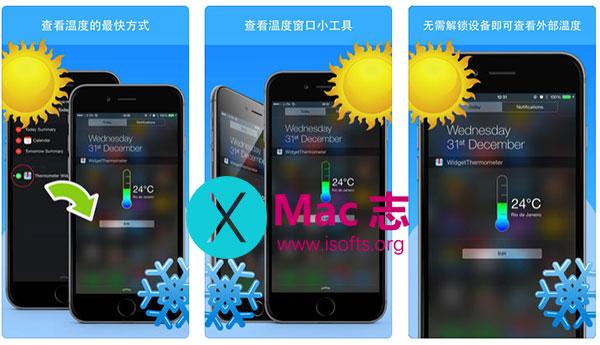 [iPhone/iPad]温度计Widget小工具 : 温度计窗口小工具