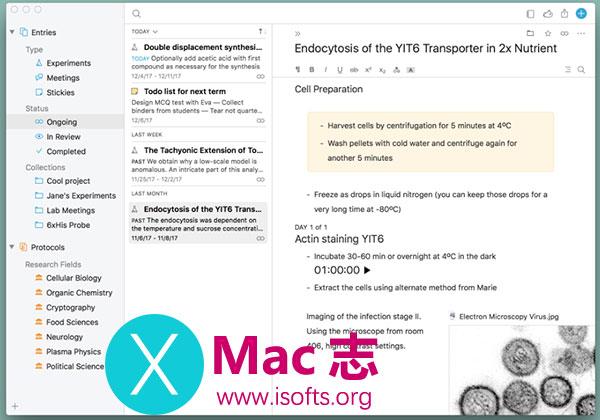 [Mac]专业科学实验设计的笔记软件 :Findings