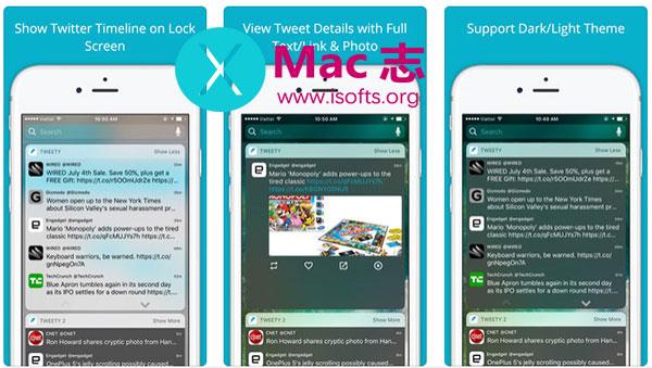 [iPhone/iPad]在通知中心查看推文 : Tweety Pro