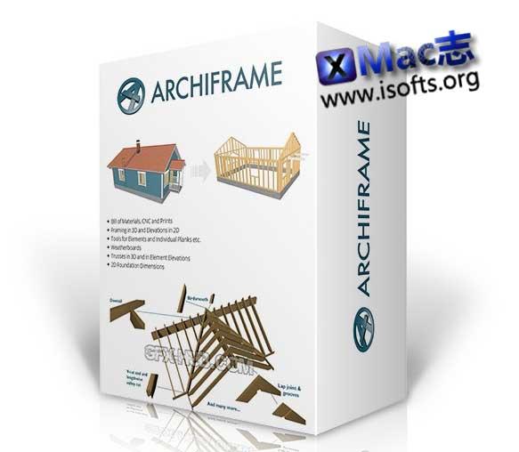 [Mac] Archicad木结构设计扩展插件 : ArchiFrame for Archicad
