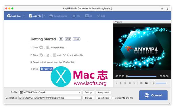 [Mac] MP4格式视频转换器 : AnyMP4 MP4 Converter