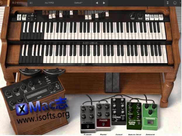 [Mac]虚拟Hammond风琴插件 : Arturia B-3 V
