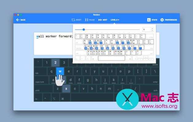 [Mac]提高打字速度教学软件 :Type Fu
