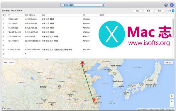 [Mac]最好用的trace路由追踪工具 : Best Trace