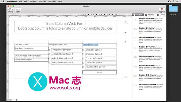 [Mac]自适应PHP网页web表单制作工具 : Wolf Forms