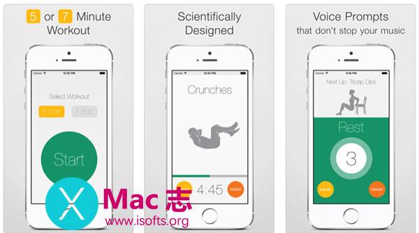 [iPhone]五分钟快速运动大挑战 :5 Minute Workout Challenge