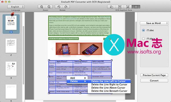 [Mac] PDF格式转换及OCR工具 : Enolsoft PDF Converter with OCR