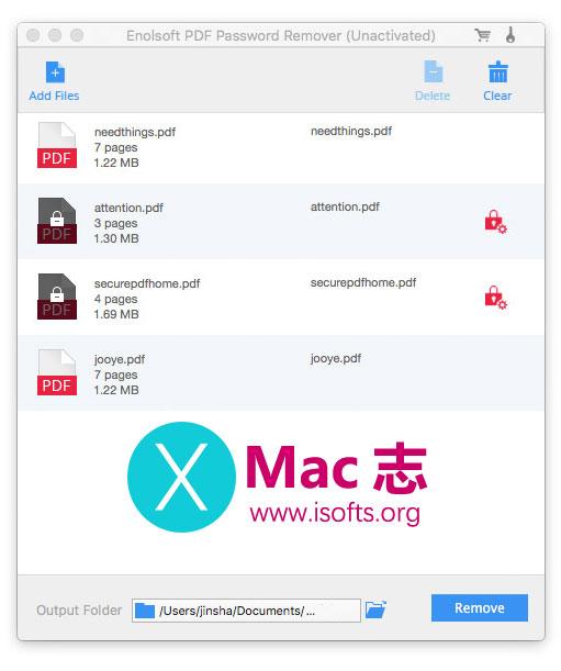 [Mac]去除PDF文件密码保护 : Enolsoft PDF Password Remover