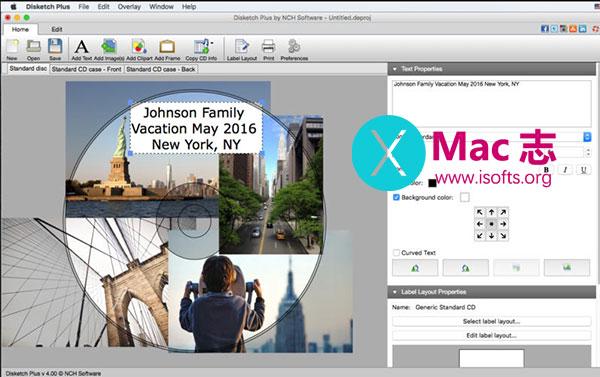 [Mac] CD和DVD光盘标签封面制作工具 : NCH Disketch Plus