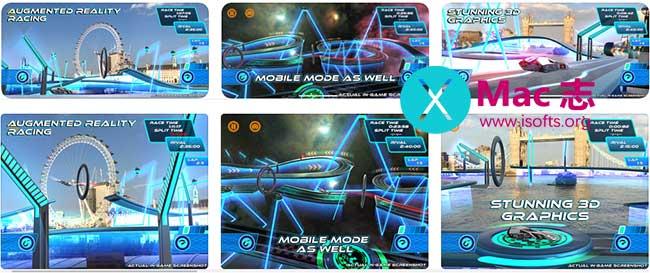 [iPhone/iPad]支持AR的赛车竞速游戏 : Lightstream Racer