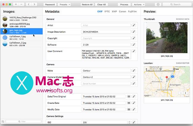 [Mac]图像元数据修改编辑工具 :MetaImage