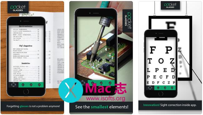 [iPhone/iPad]最高支持16倍放大的放大镜软件 :Pocket Glasses PRO