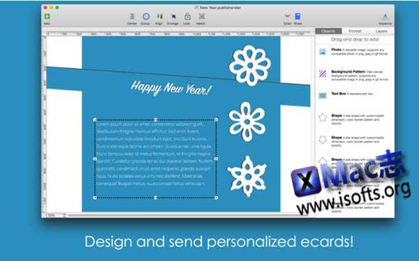 [Mac]电子卡片设计工具 : Blue Penguin eCard Designer