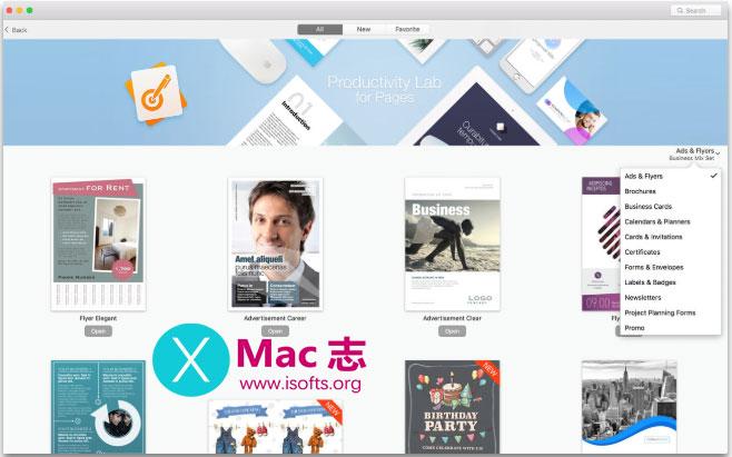 [Mac] Pages商务文件模板套件 :Business Print Lab – Templates