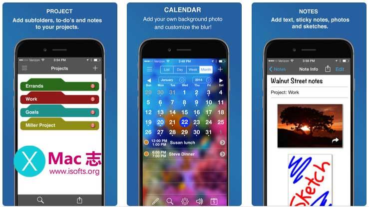 [iPhone/iPad]多功能个人待办事项日历工具 : InFocus Pro