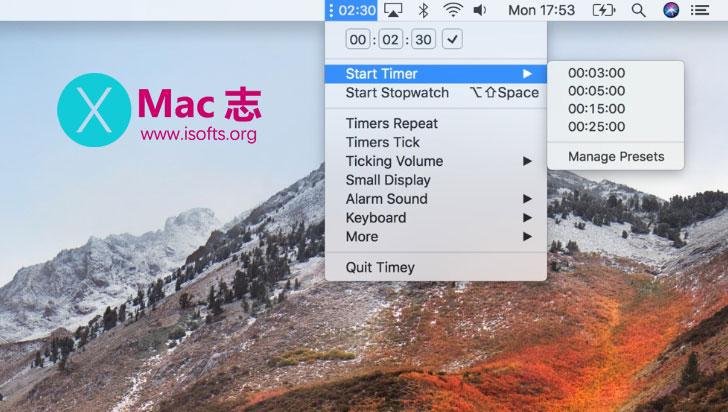 [Mac]定时倒计时软件 :Timey