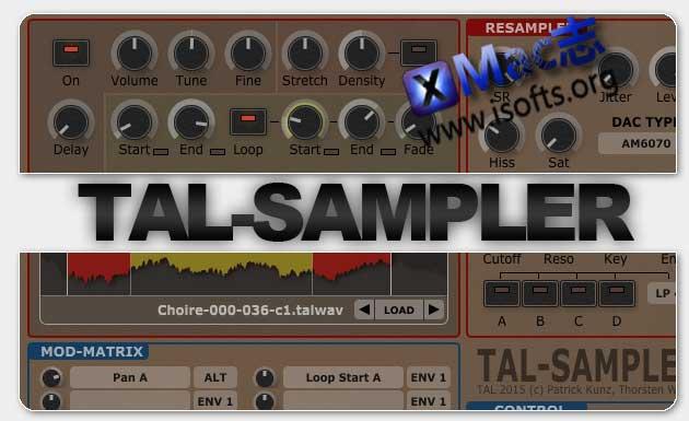 [Mac]采样器合成器 : Togu Audio Line TAL-Sampler