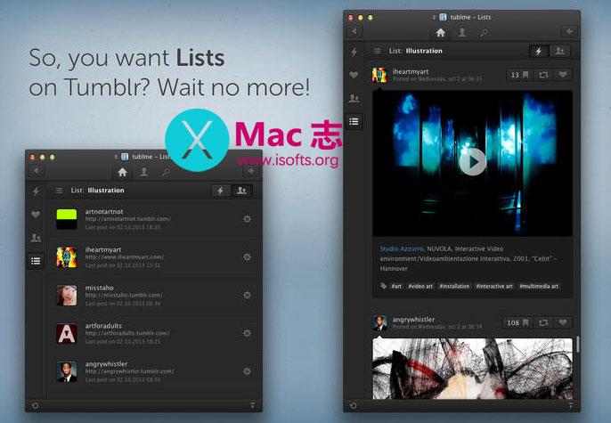 [Mac]Tumblr桌面客户端 : Tublme