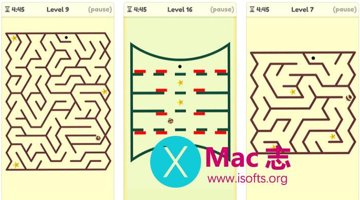 [iPhone/iPad]重力倾斜迷宫游戏 : Maze-A-Maze +