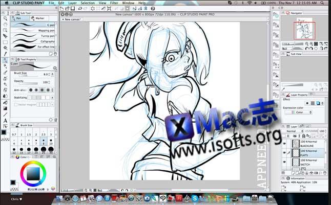[Mac]漫画插画绘画软件 : Clip Studio Paint EX
